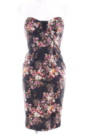 Asos Vestido bustier estampado floral elegante