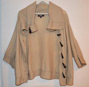 ASOS - Cape - Vintage - aus Wolle - Gr.S - Beige - 3/4 Arm - XL Kragen