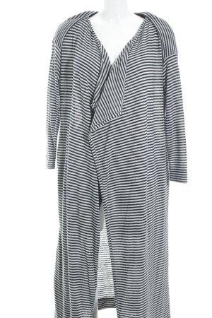 Asos Cardigan weiß-graublau Streifenmuster schlichter Stil