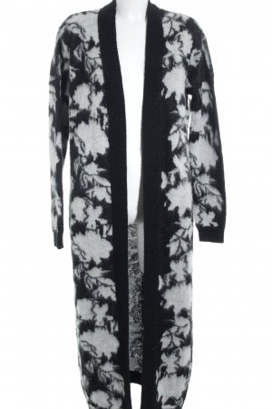 Asos Cardigan wollweiß-schwarz abstraktes Muster Casual-Look