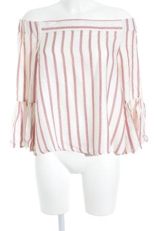 Asos Carmen Blouse bright red-cream striped pattern street-fashion look