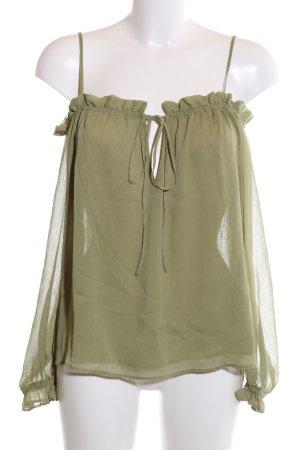 Asos Carmen blouse khaki klassieke stijl