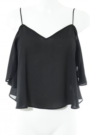 Asos Carmen blouse zwart casual uitstraling