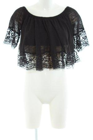 Asos Carmenshirt schwarz Elegant