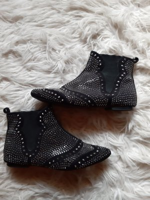 Asos Chelsea Boots black-silver-colored