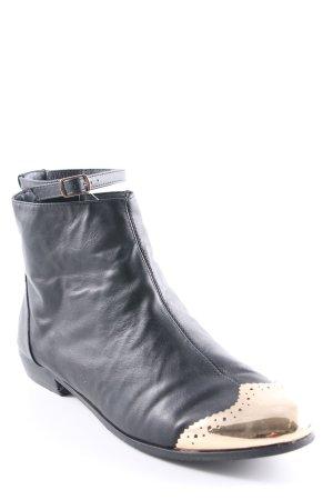 Asos Chelsea Boot noir-doré style décontracté