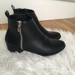 Asos Chelsea Boots Stiefeletten 39 schwarz Reisverschlüsse Flach