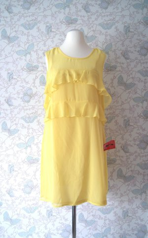 Asos Chiffon-Kleid, Sommerkleid, gelb, Gr. 42 Neu