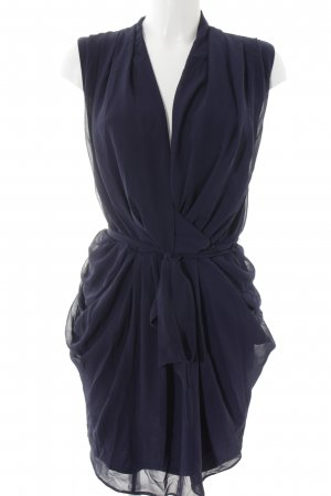 Asos Chiffonkleid dunkelblau Elegant