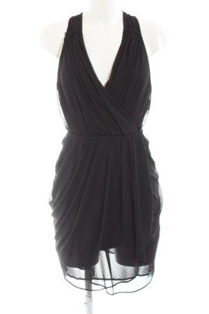 Asos Chiffon jurk zwart zakelijke stijl