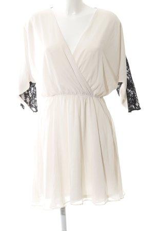 Asos Robe chiffon blanc cassé-noir style festif