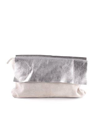 Asos Clutch grijs-bruin-zilver casual uitstraling