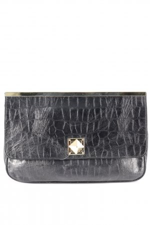 Asos Clutch schwarz-goldfarben Animalmuster Animal-Look