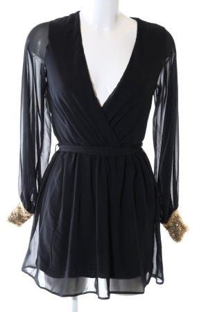 Asos Robe de cocktail noir-doré élégant