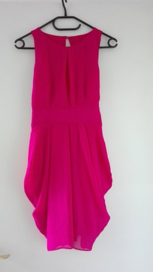ASOS Cocktailkleid Abendkleid rot pink XS 34 Schleife NEU
