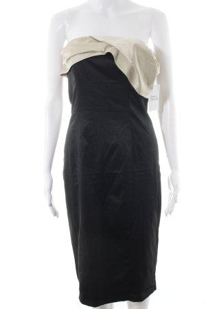 Asos Cocktailkleid schwarz-creme Elegant