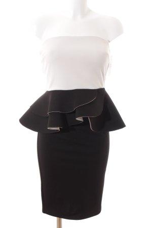 Asos Cocktailkleid schwarz-weiß Elegant