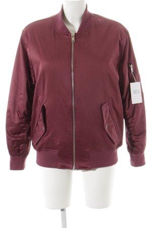 Asos College Jacket blackberry-red casual look