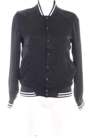 Asos Collegejacke schwarz-weiß 90ies-Stil