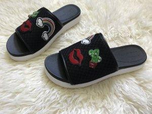 Asos Outdoor Sandals black-red