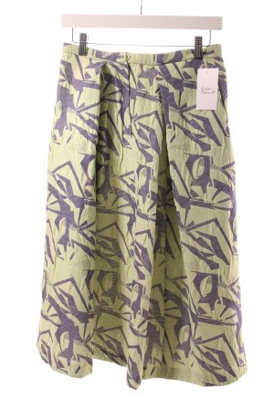 Asos Crash Skirt pale green-steel blue abstract pattern casual look