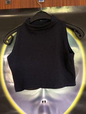 Asos Cropped shirt donkerblauw