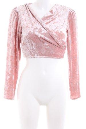 Asos Cropped Shirt pink elegant