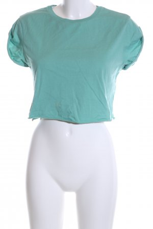 Asos Cropped Shirt turquoise casual look