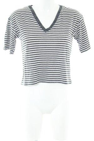 Asos Cropped Shirt schwarz-weiß Streifenmuster Casual-Look