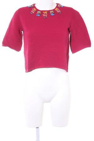Asos Cropped Shirt mehrfarbig Elegant