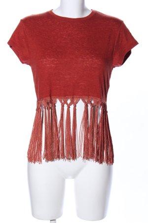 Asos Camicia cropped rosso-arancione chiaro stile casual