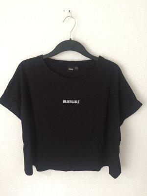 Asos cropped Shirt schwarz