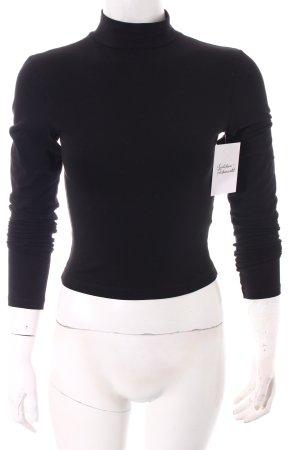 Asos Cropped Shirt schwarz klassischer Stil