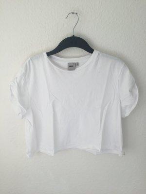 Asos Cropped Shirt Weiß
