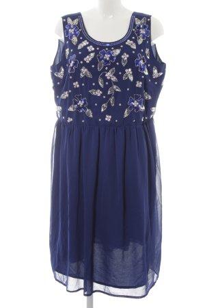 asos curve Avondjurk blauw-staalblauw bloemenprint elegant