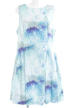 asos curve Cocktailkleid weiß-dunkelviolett Blumenmuster Elegant