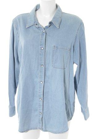 asos curve Chemise en jean bleu azur style décontracté