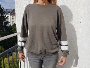 Asos Curve Khaki Sweater Sweatshirt Pullover Größe 44