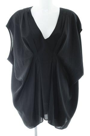 asos curve Short Sleeved Blouse black elegant