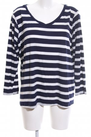 asos curve Longsleeve blue-white striped pattern casual look