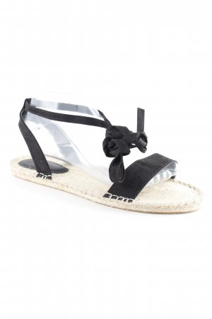 asos curve Roman Sandals black-cream beach look