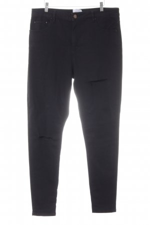 asos curve Skinny Jeans black distressed style