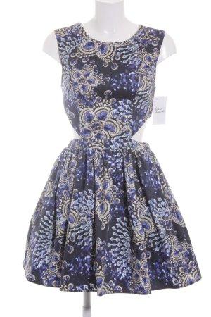Asos Cut-Out-Kleid abstraktes Muster extravaganter Stil