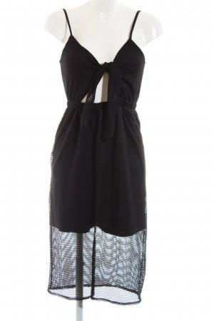 Asos Cut Out Dress black extravagant style