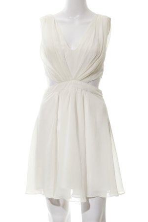 Asos Cut-Out-Kleid wollweiß Elegant