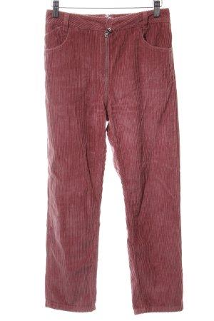 Asos Denim Corduroy broek mauve-grijs-lila casual uitstraling