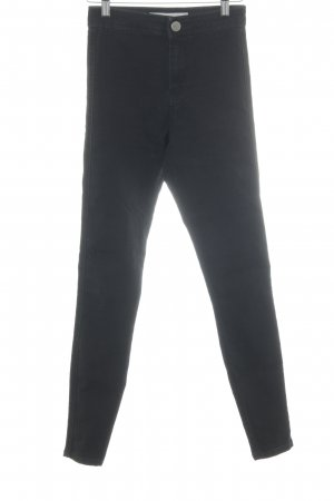 Asos Denim Pantalón de cintura alta negro look casual