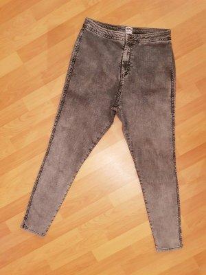 Asos Denim High waist Jeans Hose 'Rivington' Grau W34 L32