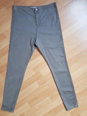 Asos Denim High Waist Jeans Hose Rivington Khaki W34 L32