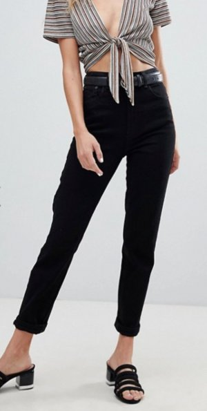 Asos Denim High Waist Jeans schwarz Casual-Look